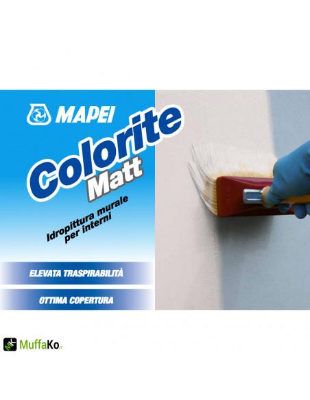 Mapei Colorite Matt Idropittura murale per interni 14 lt.
