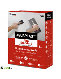 Stucco aguaplast alto standard in polvere 5 kg