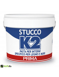 Stucco in pasta k2 specifico per legno e muri per interno
