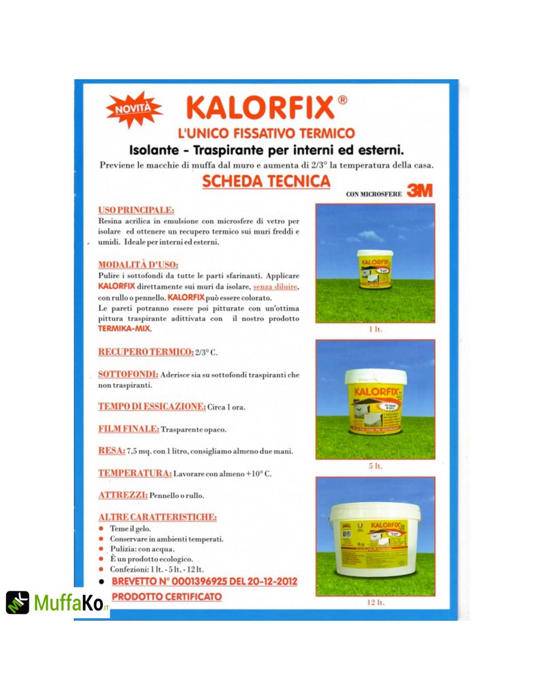 Quando Usare Il Fissativo kalorfix tecnostuk lt.5 fissativo isolante termico